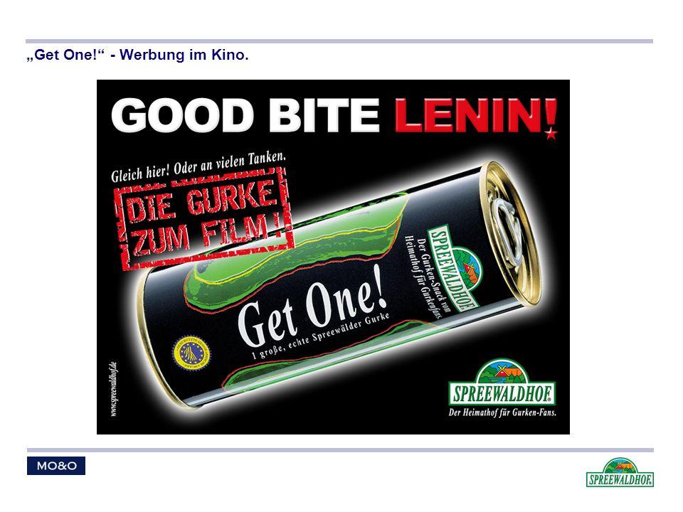 """Get One! - Werbung im Kino."