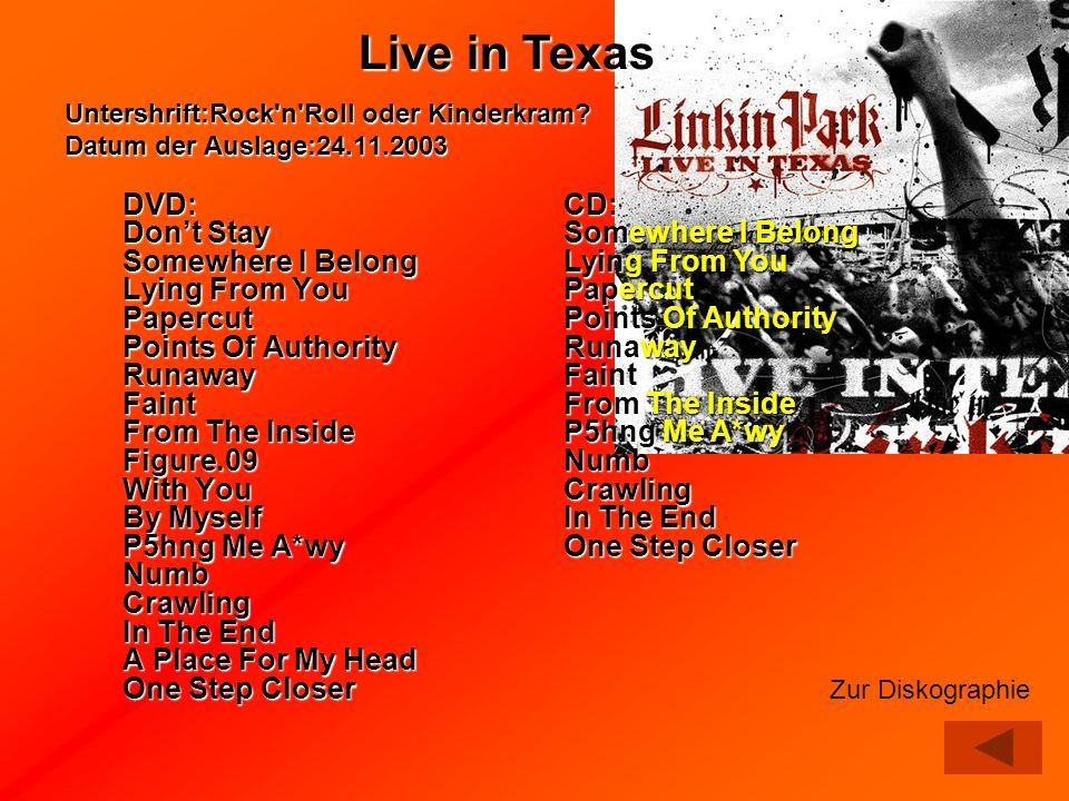 Untershrift:Rock n Roll oder Kinderkram Datum der Auslage:24.11.2003