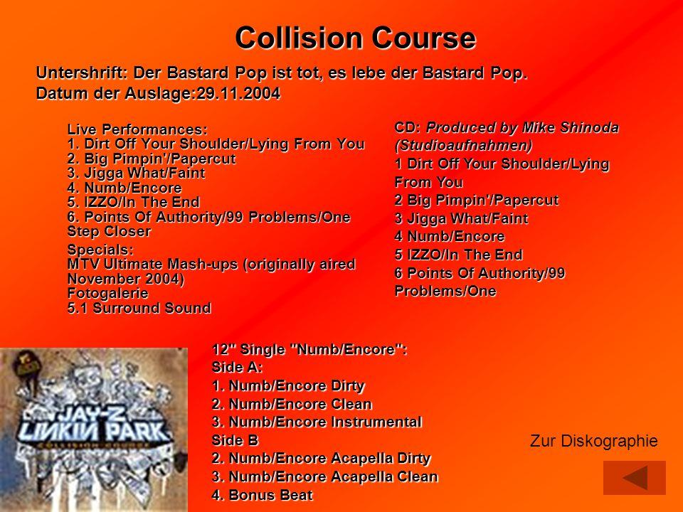 Collision Course Untershrift: Der Bastard Pop ist tot, es lebe der Bastard Pop. Datum der Auslage:29.11.2004.