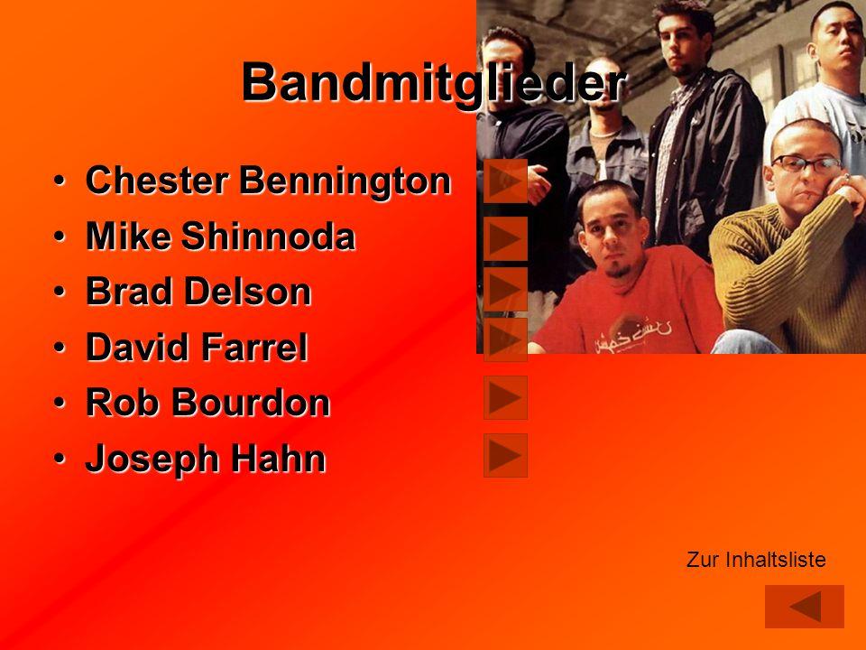 Bandmitglieder Chester Bennington Mike Shinnoda Brad Delson