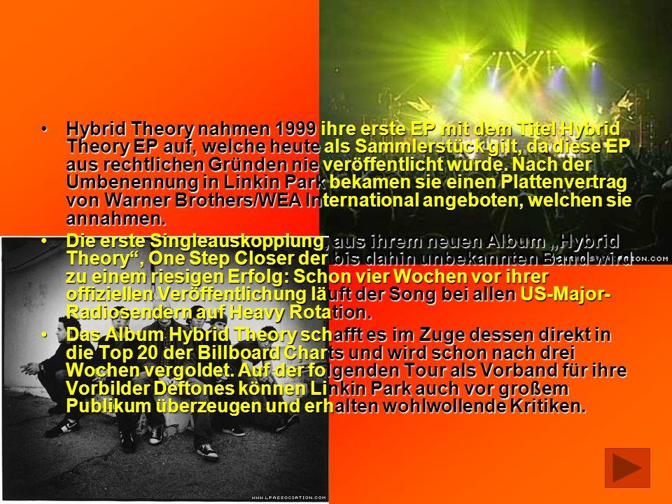 Hybrid Theory nahmen 1999 ihre erste EP mit dem Titel Hybrid Theory EP auf, welche heute als Sammlerstück gilt, da diese EP aus rechtlichen Gründen nie veröffentlicht wurde. Nach der Umbenennung in Linkin Park bekamen sie einen Plattenvertrag von Warner Brothers/WEA International angeboten, welchen sie annahmen.