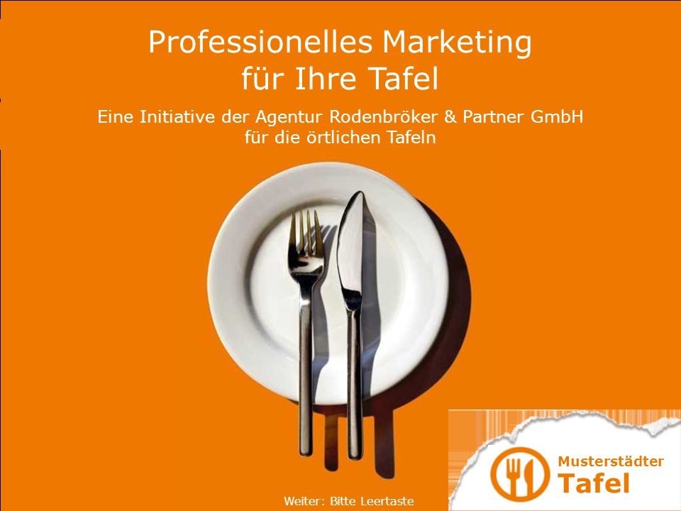Professionelles Marketing für Ihre Tafel