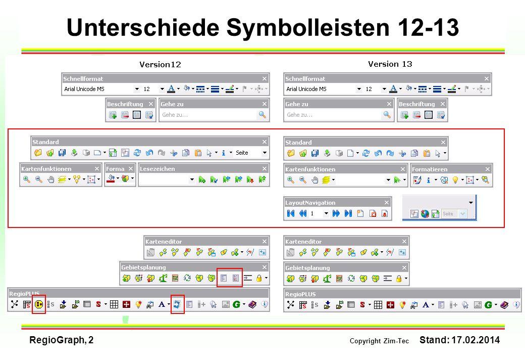 Unterschiede Symbolleisten 12-13