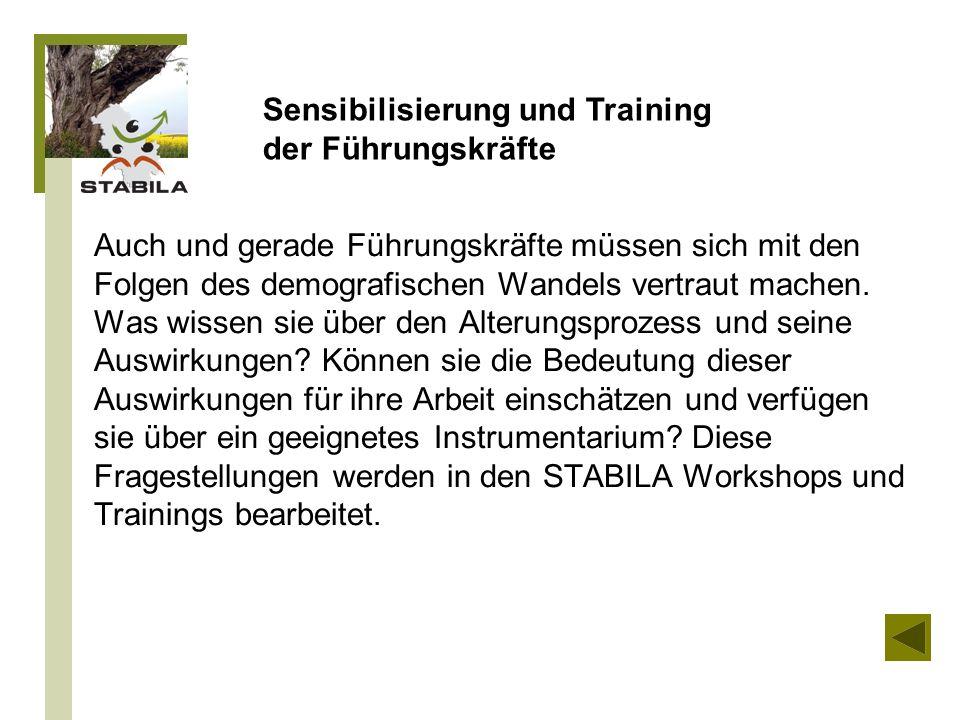 Sensibilisierung und Training