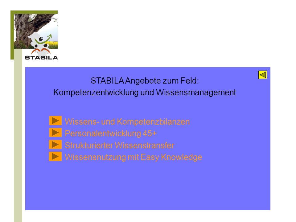 STABILA Angebote zum Feld: Kompetenzentwicklung und Wissensmanagement