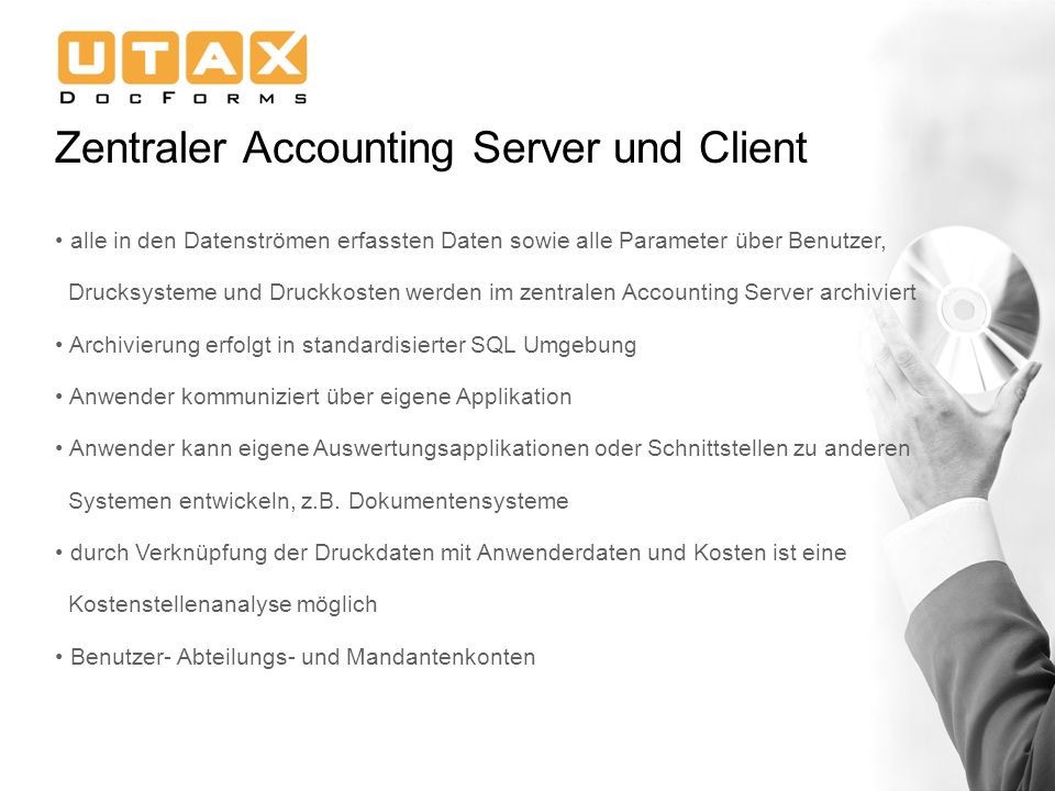 Zentraler Accounting Server und Client