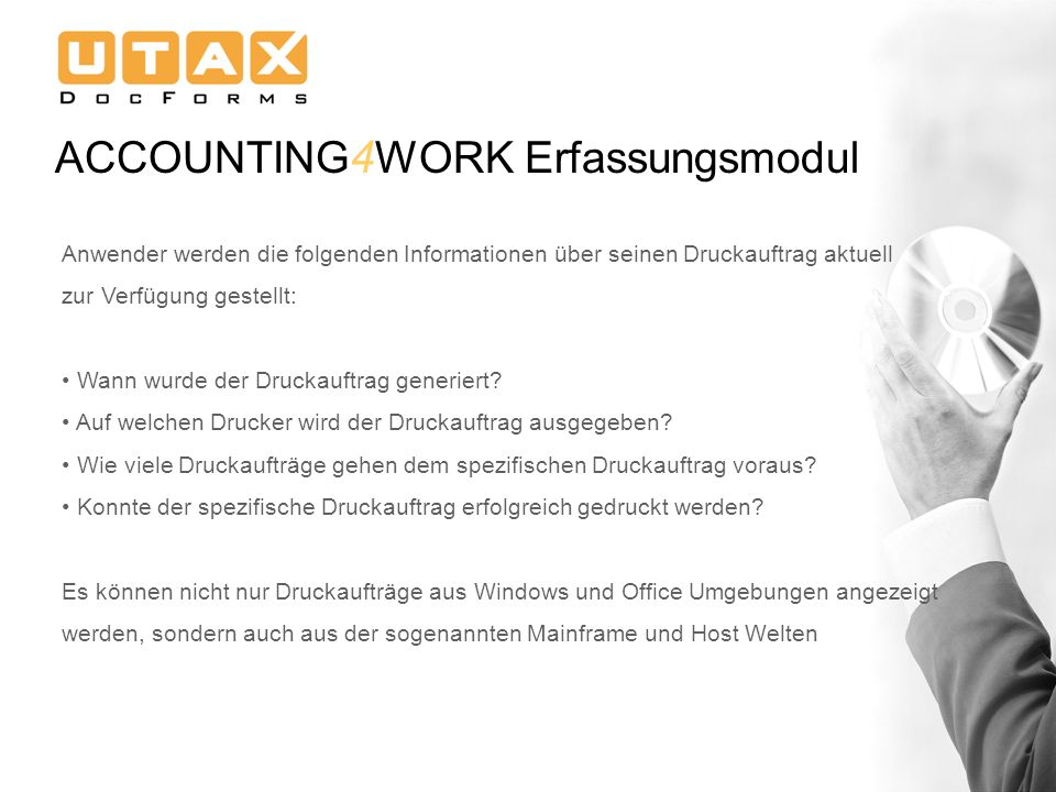 ACCOUNTING4WORK Erfassungsmodul