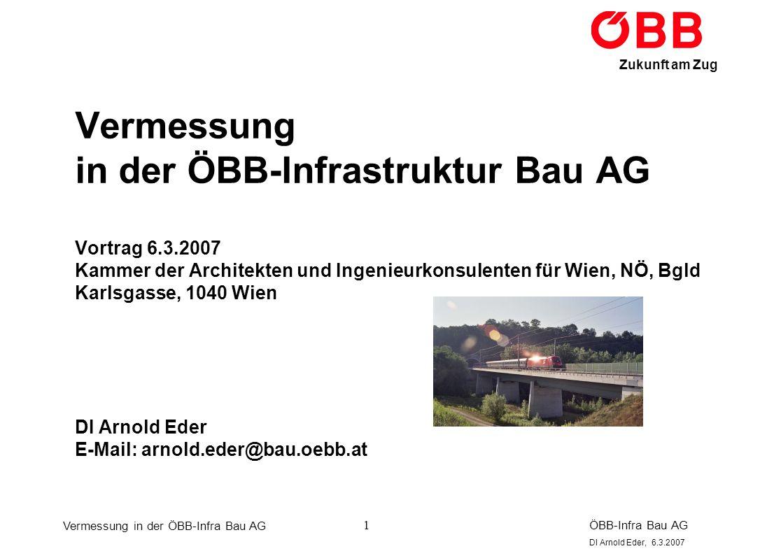 Vermessung in der ÖBB-Infrastruktur Bau AG Vortrag 6. 3