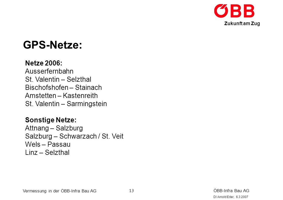 GPS-Netze: Netze 2006: Ausserfernbahn St. Valentin – Selzthal