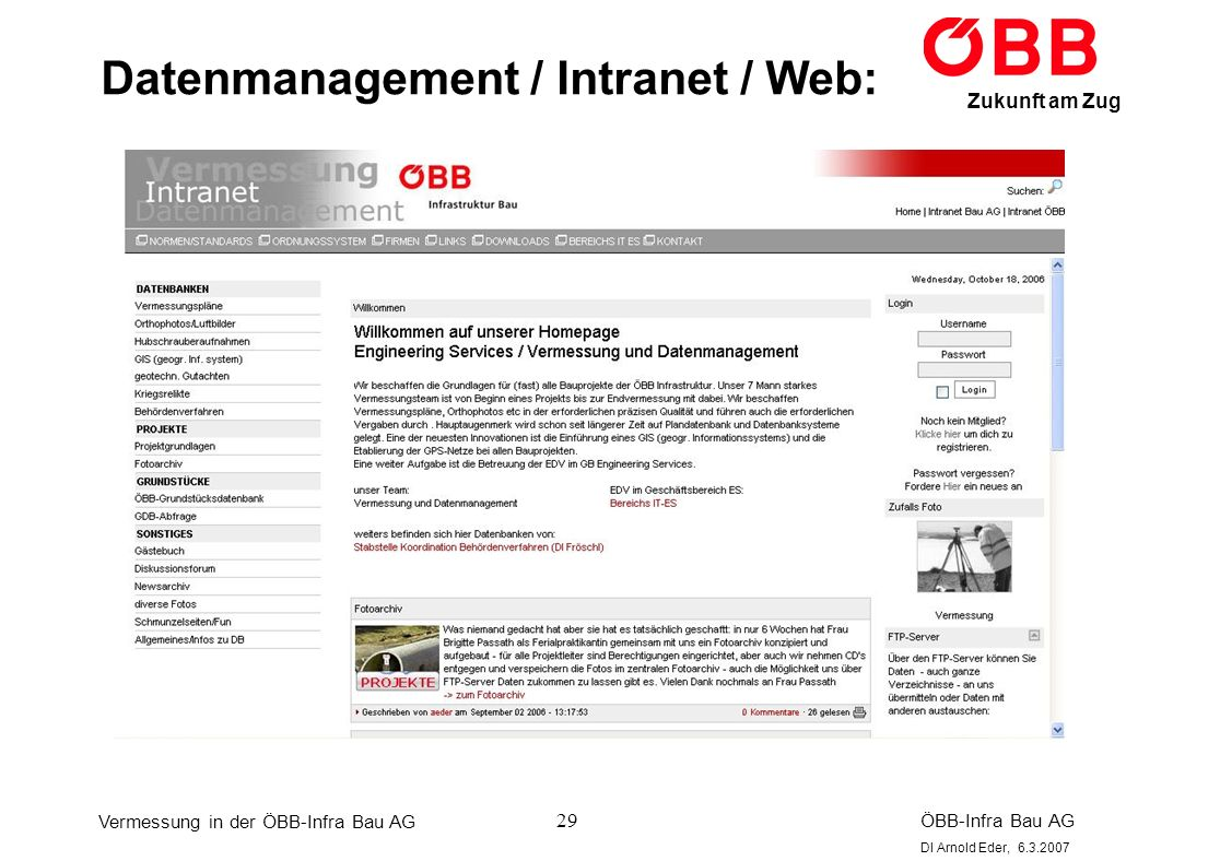 Datenmanagement / Intranet / Web: