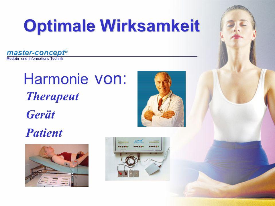 Optimale Wirksamkeit Harmonie von: Therapeut Gerät Patient
