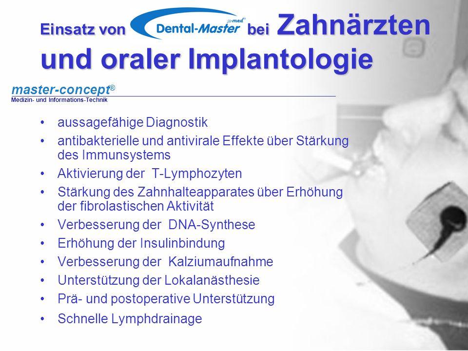 Einsatz von bei Zahnärzten und oraler Implantologie