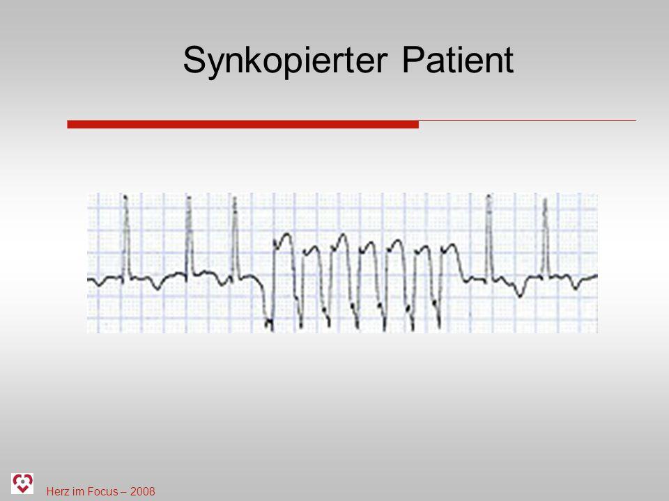 Synkopierter Patient