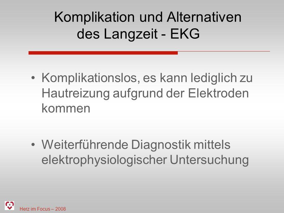Komplikation und Alternativen des Langzeit - EKG