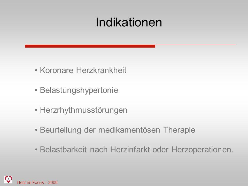 Indikationen Koronare Herzkrankheit Belastungshypertonie