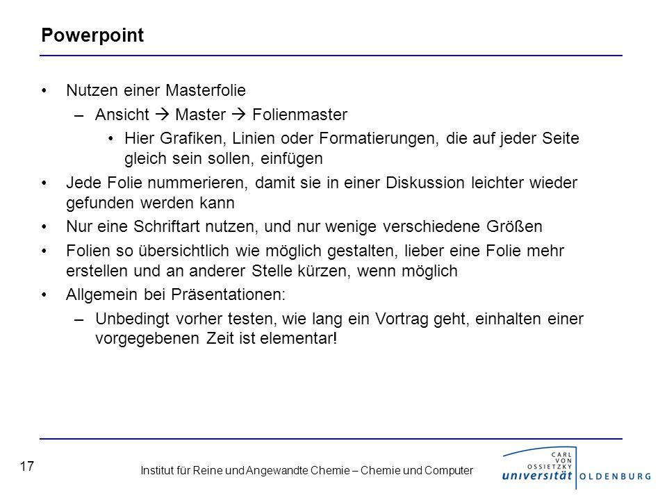 Powerpoint Nutzen einer Masterfolie Ansicht  Master  Folienmaster