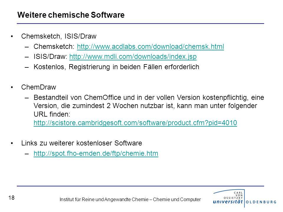 Weitere chemische Software