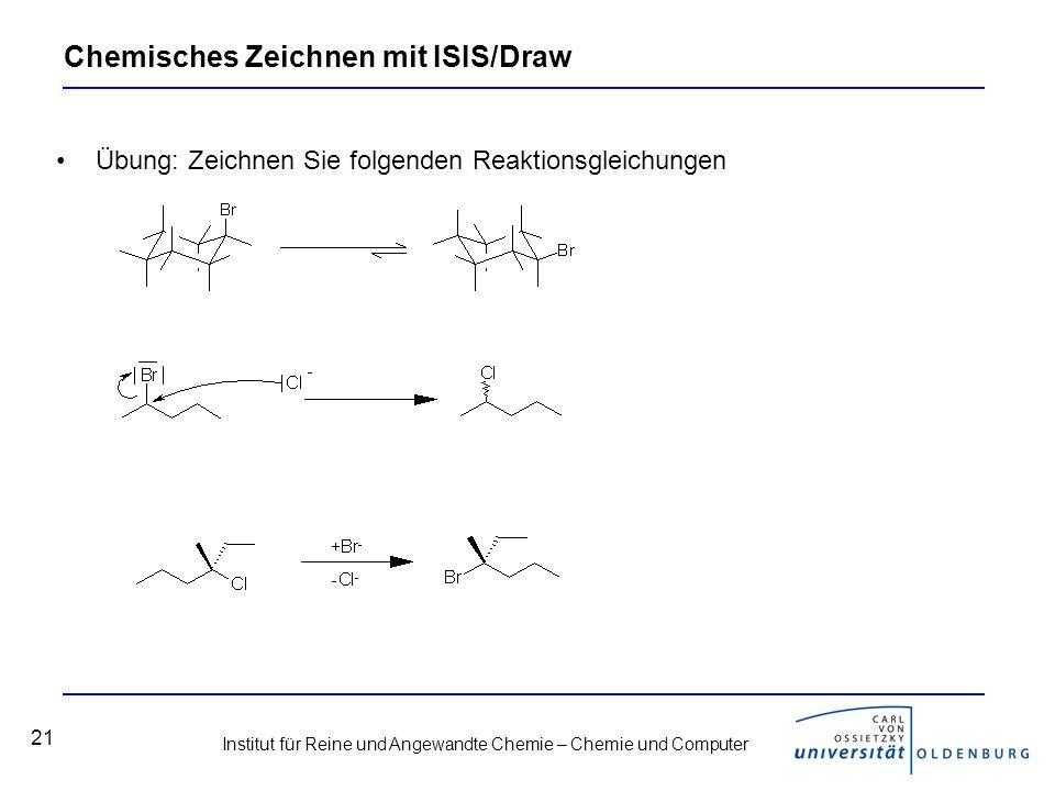 Chemisches Zeichnen mit ISIS/Draw