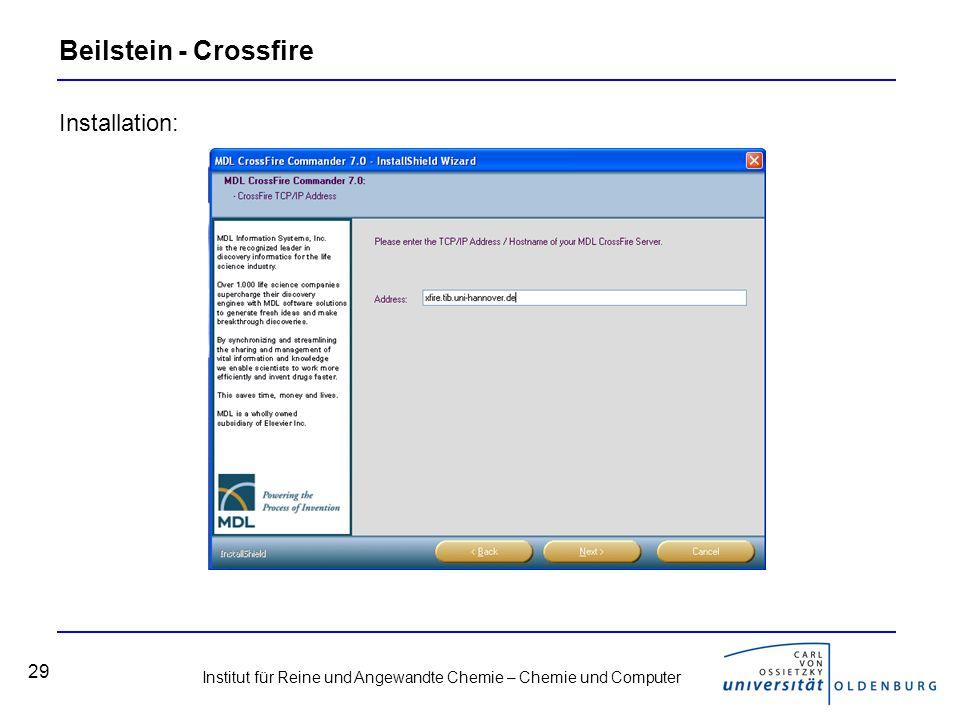 Beilstein - Crossfire Installation:
