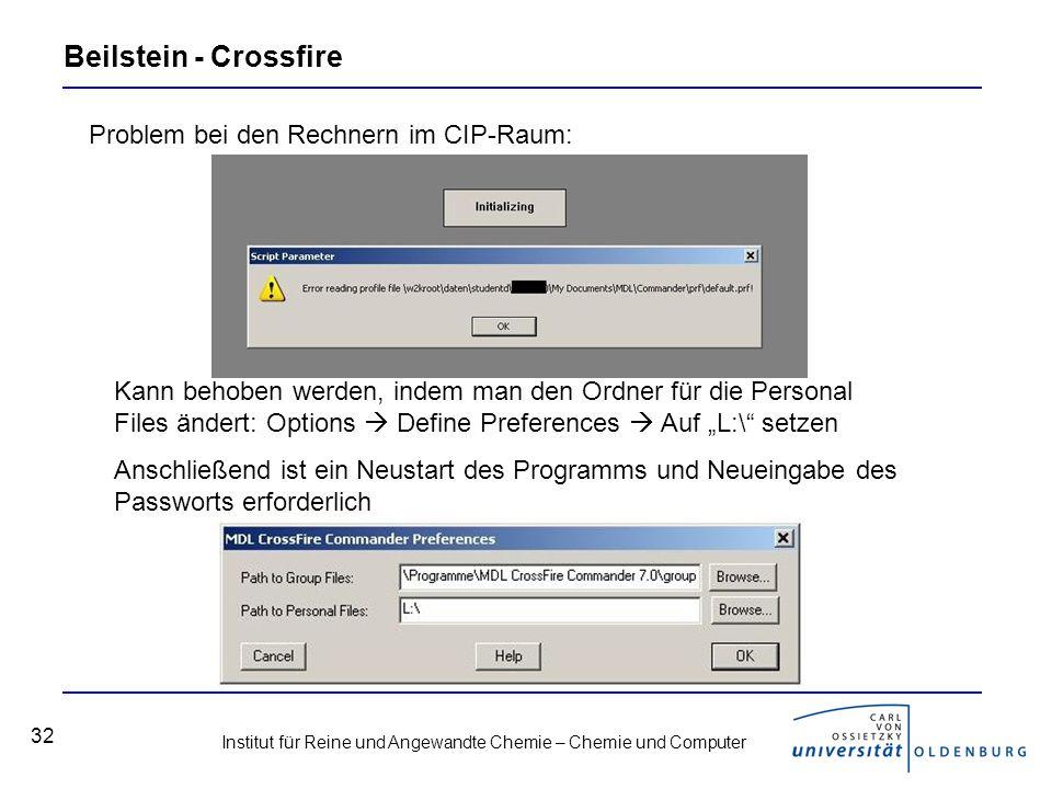 Beilstein - Crossfire Problem bei den Rechnern im CIP-Raum: