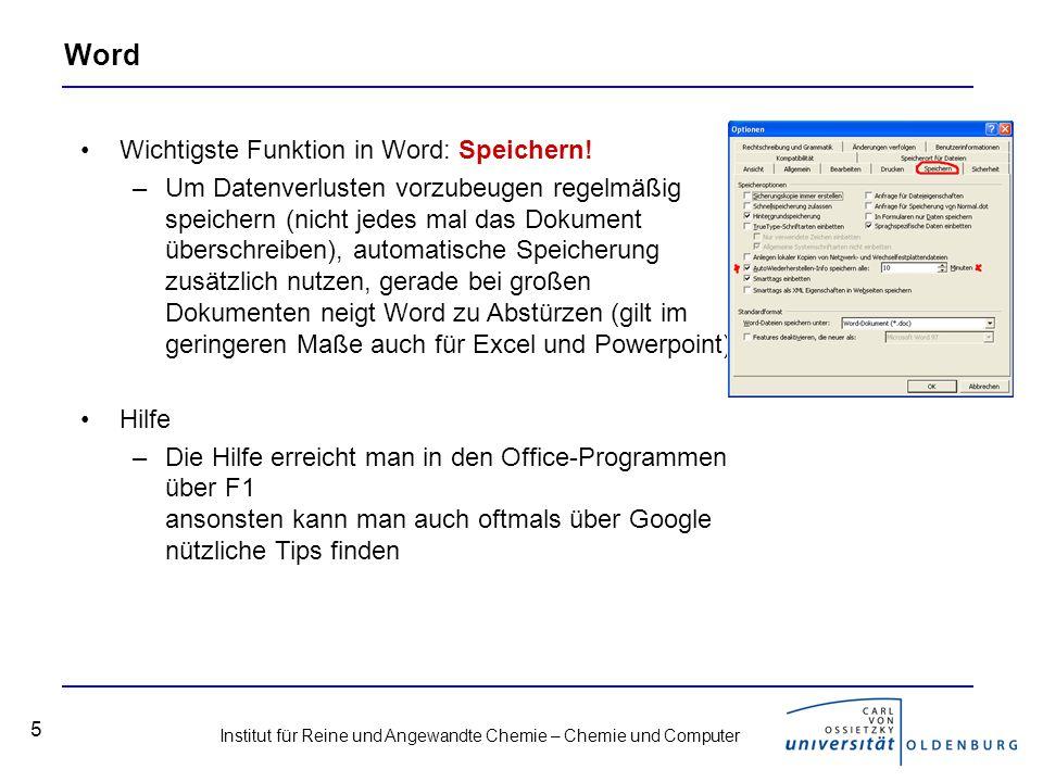 Word Wichtigste Funktion in Word: Speichern!