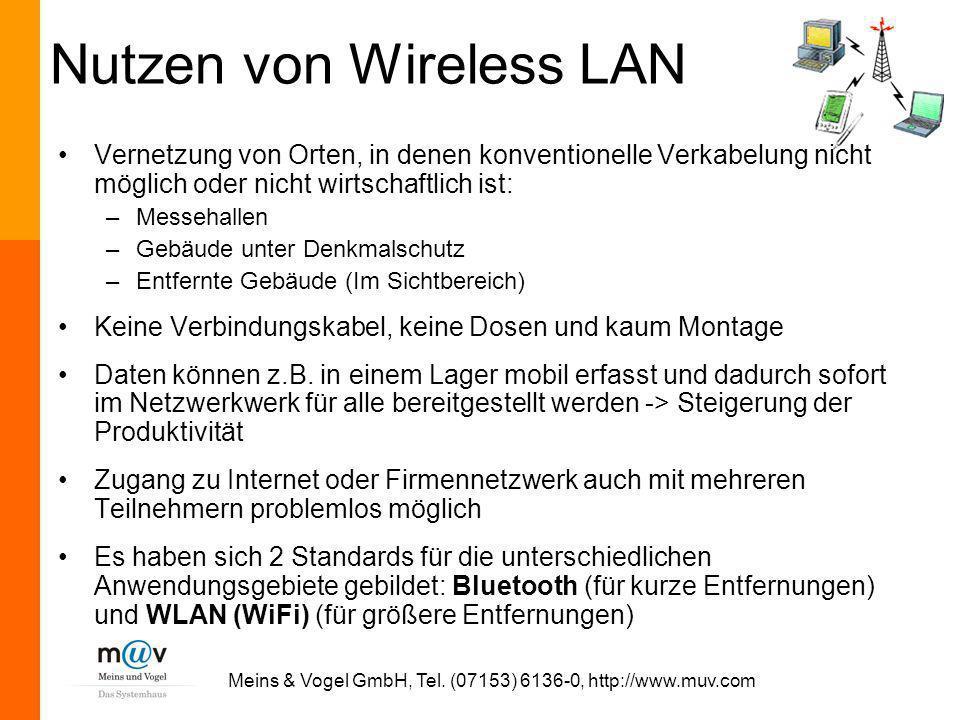 Nutzen von Wireless LAN