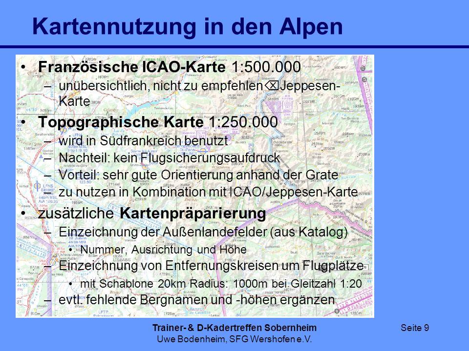 Kartennutzung in den Alpen
