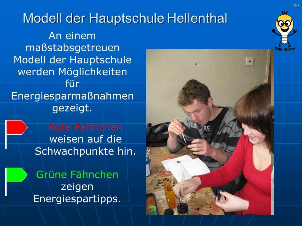 Modell der Hauptschule Hellenthal