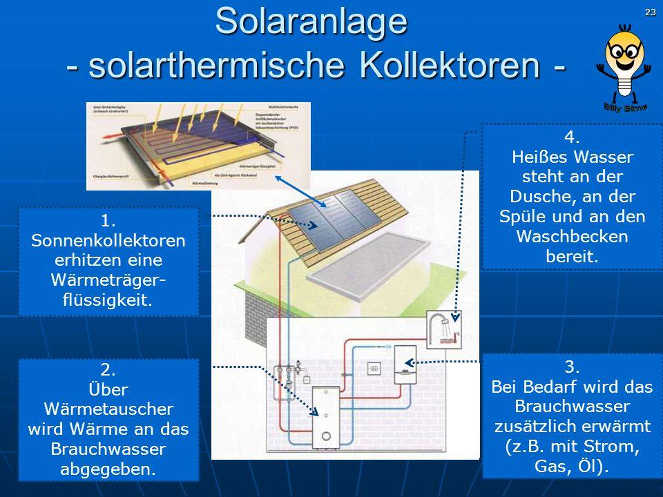Solaranlage - solarthermische Kollektoren -