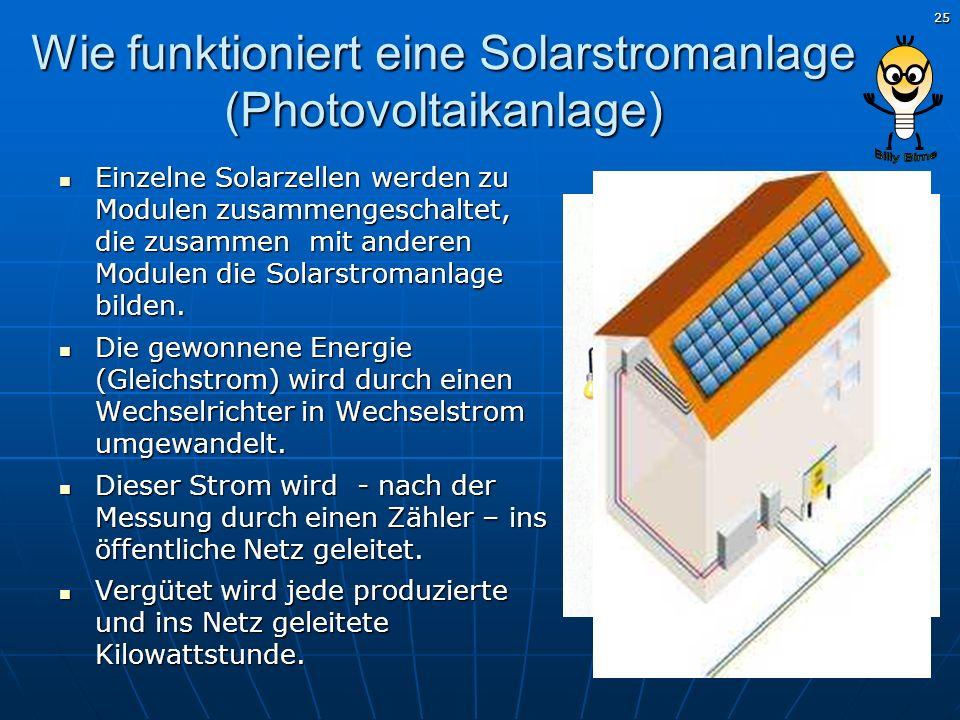 Wie funktioniert eine Solarstromanlage (Photovoltaikanlage)