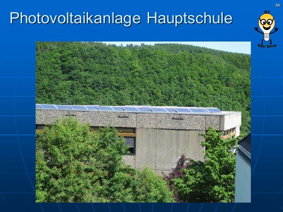 Photovoltaikanlage Hauptschule