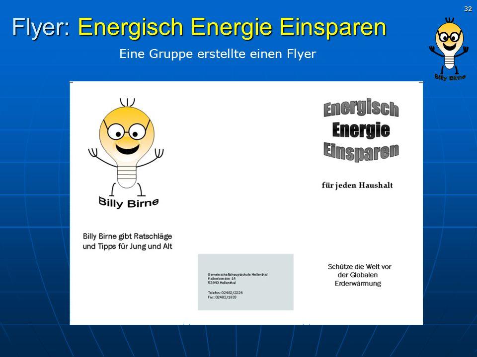 Flyer: Energisch Energie Einsparen