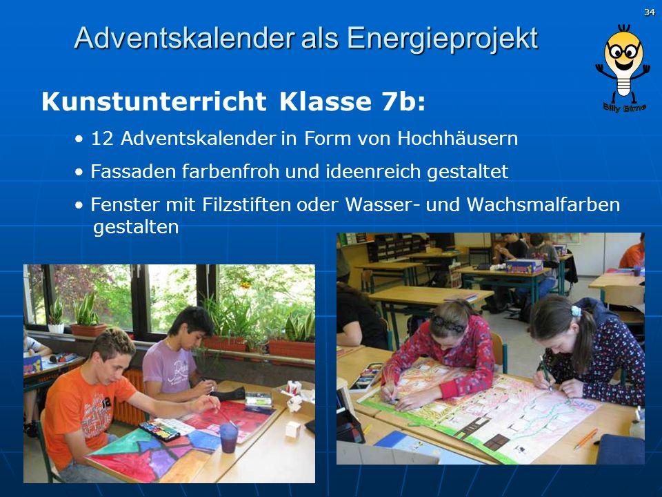 Adventskalender als Energieprojekt