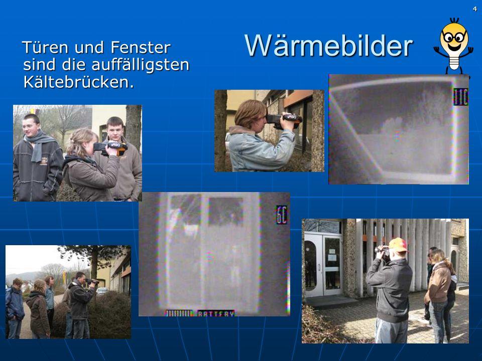 Wärmebilder Türen und Fenster sind die auffälligsten Kältebrücken.