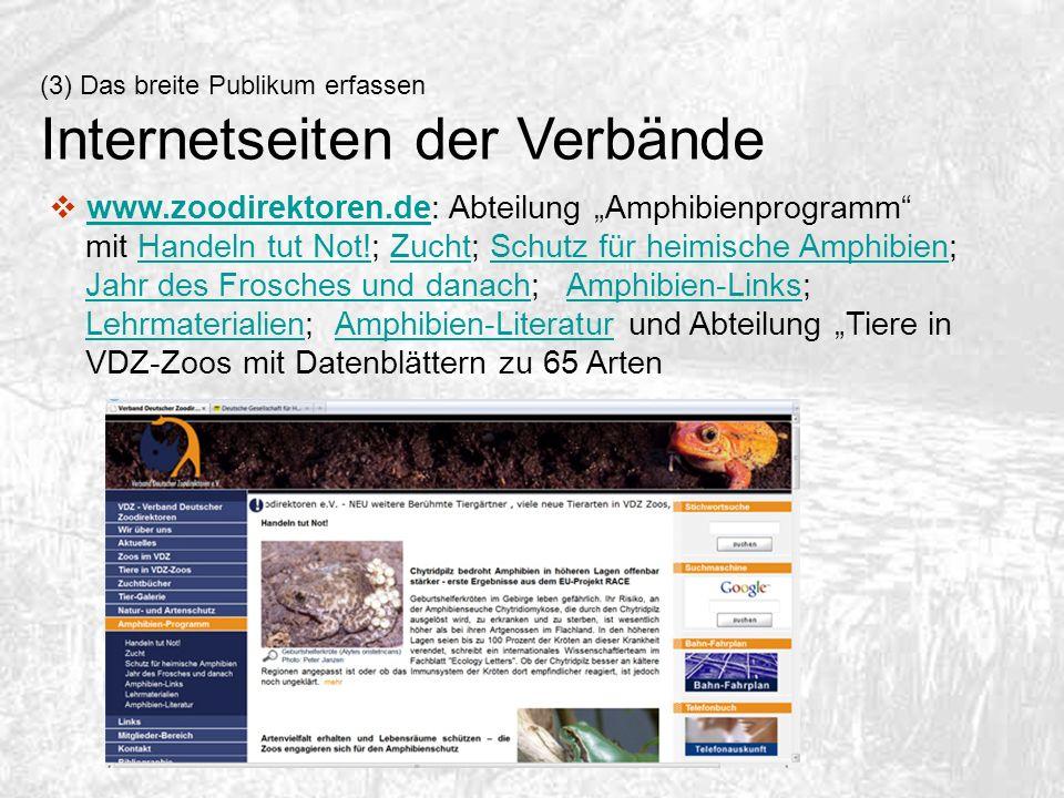 Internetseiten der Verbände