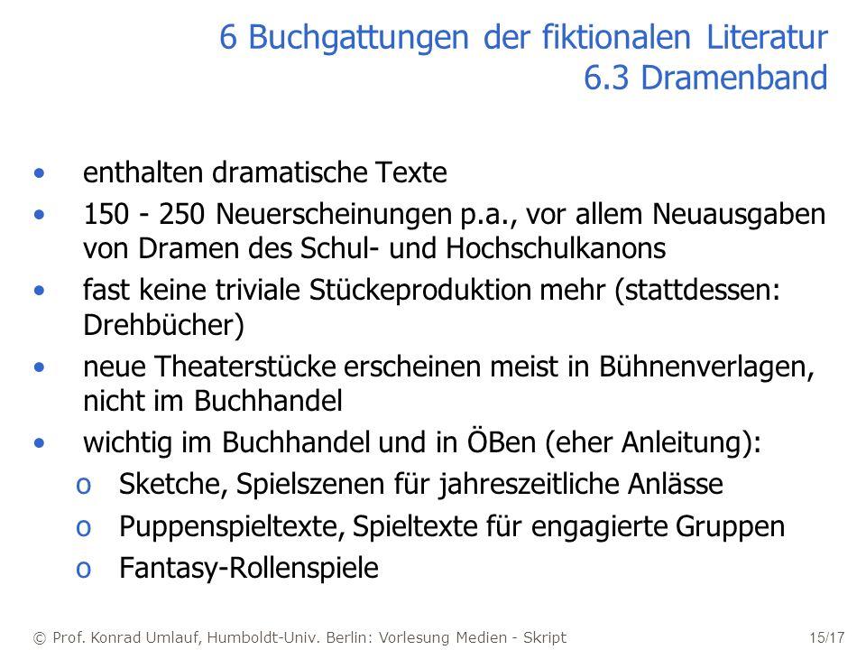 6 Buchgattungen der fiktionalen Literatur 6.3 Dramenband