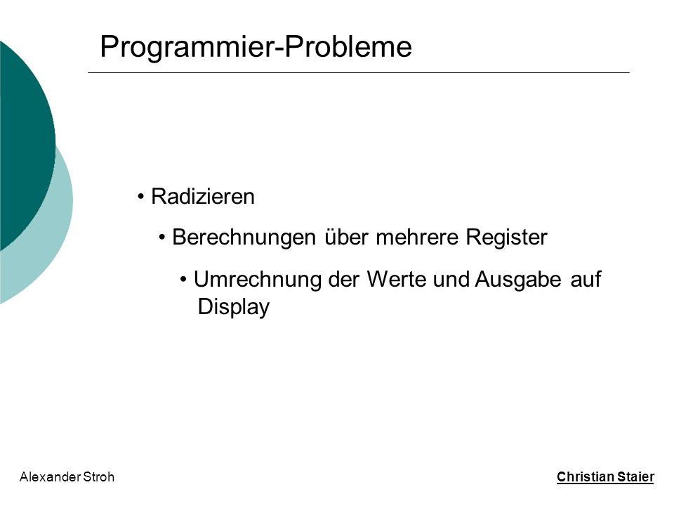 Programmier-Probleme