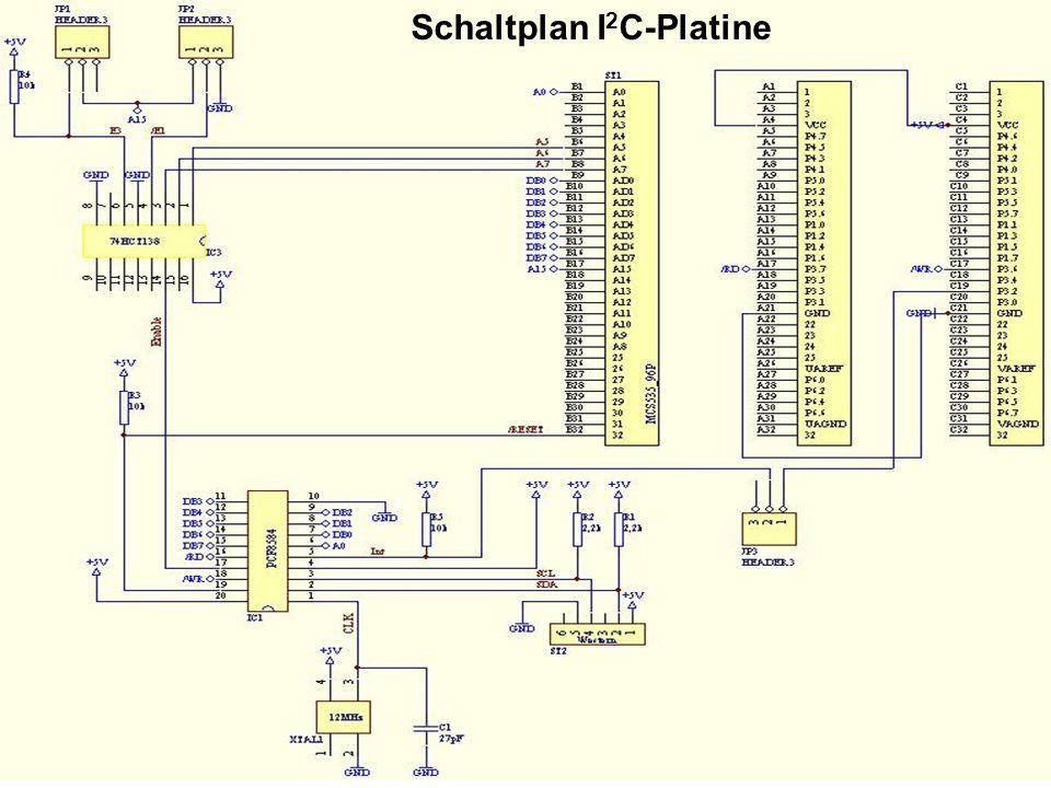 Schaltplan I2C-Platine