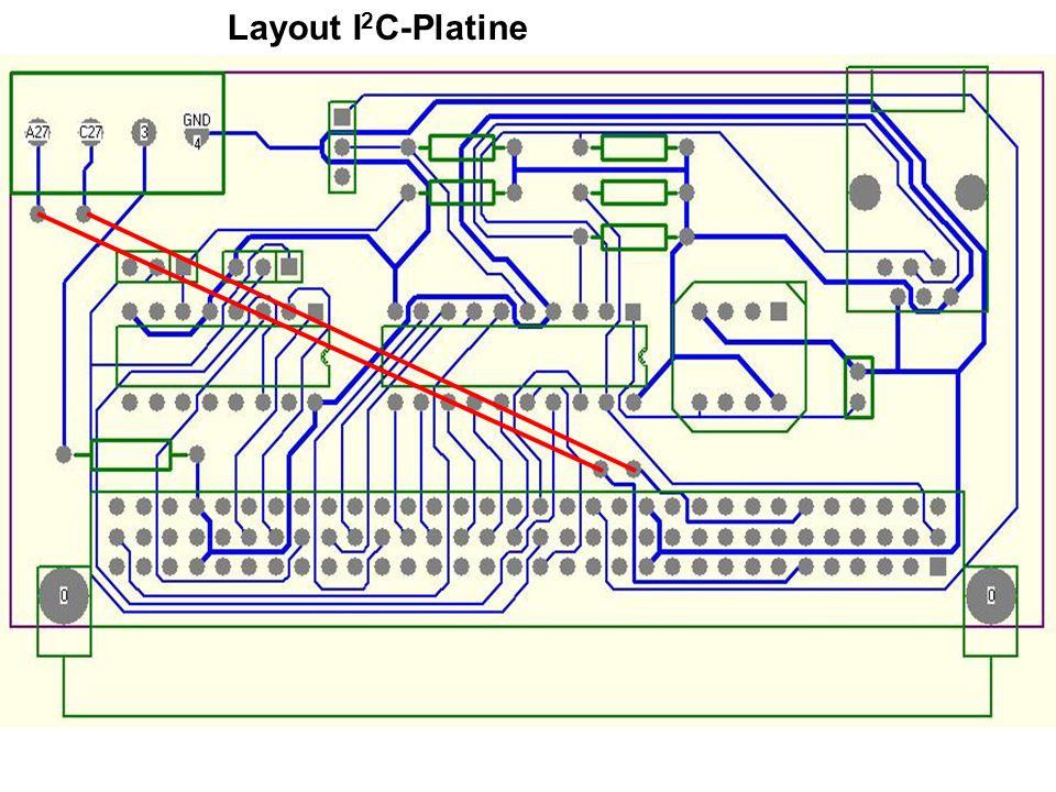 Layout I2C-Platine
