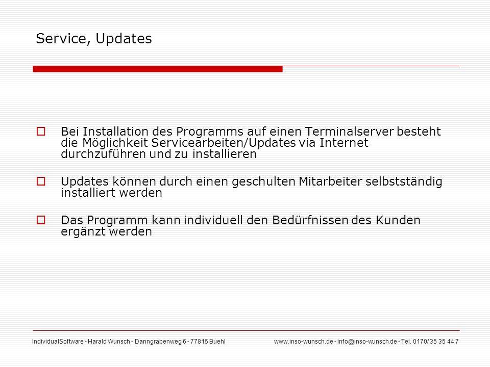 Service, Updates
