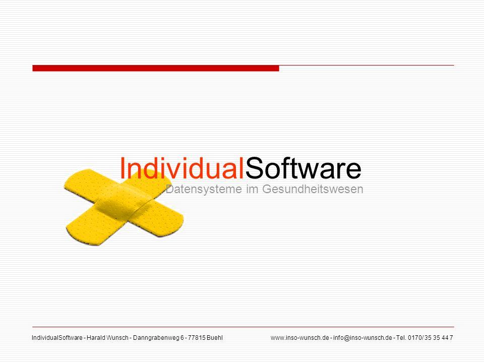 IndividualSoftware Datensysteme im Gesundheitswesen