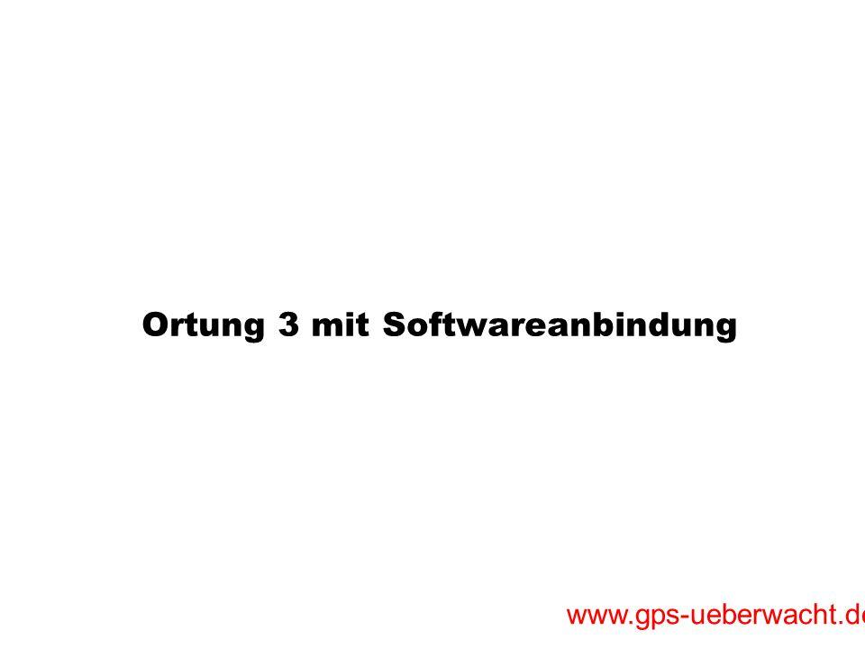 Ortung 3 mit Softwareanbindung