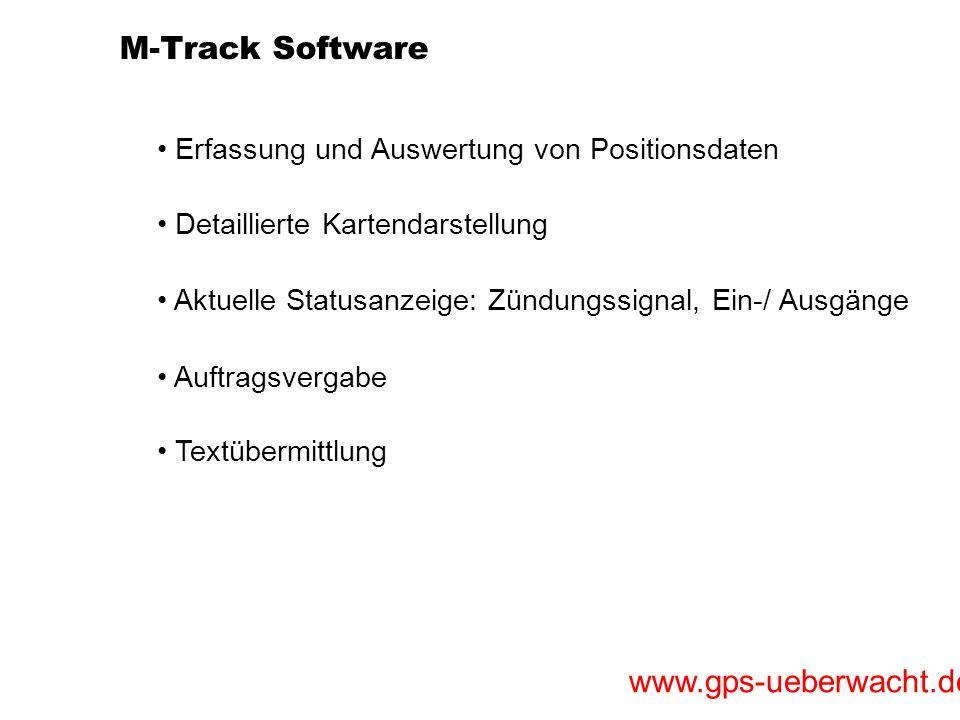 M-Track Software Erfassung und Auswertung von Positionsdaten
