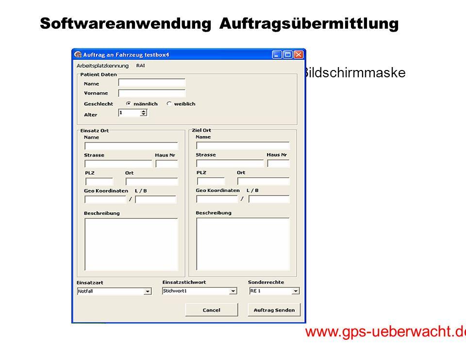 Softwareanwendung Auftragsübermittlung