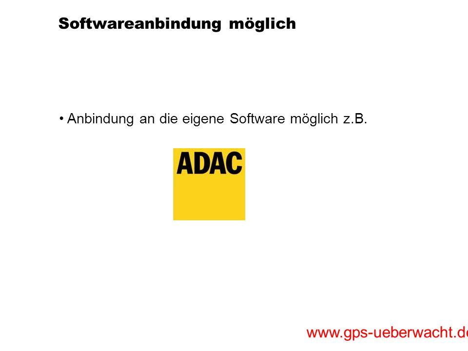 Softwareanbindung möglich