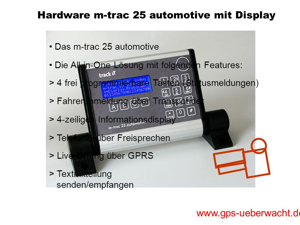 m-trac 25 automotive mit Display