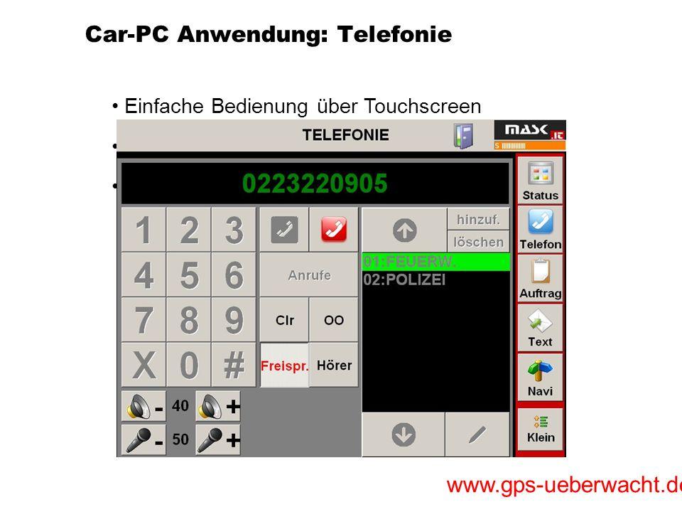 Car-PC Anwendung: Telefonie