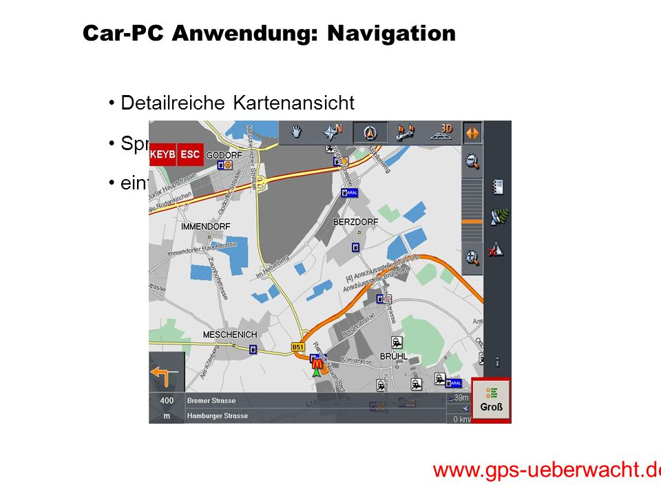 Car-PC Anwendung: Navigation