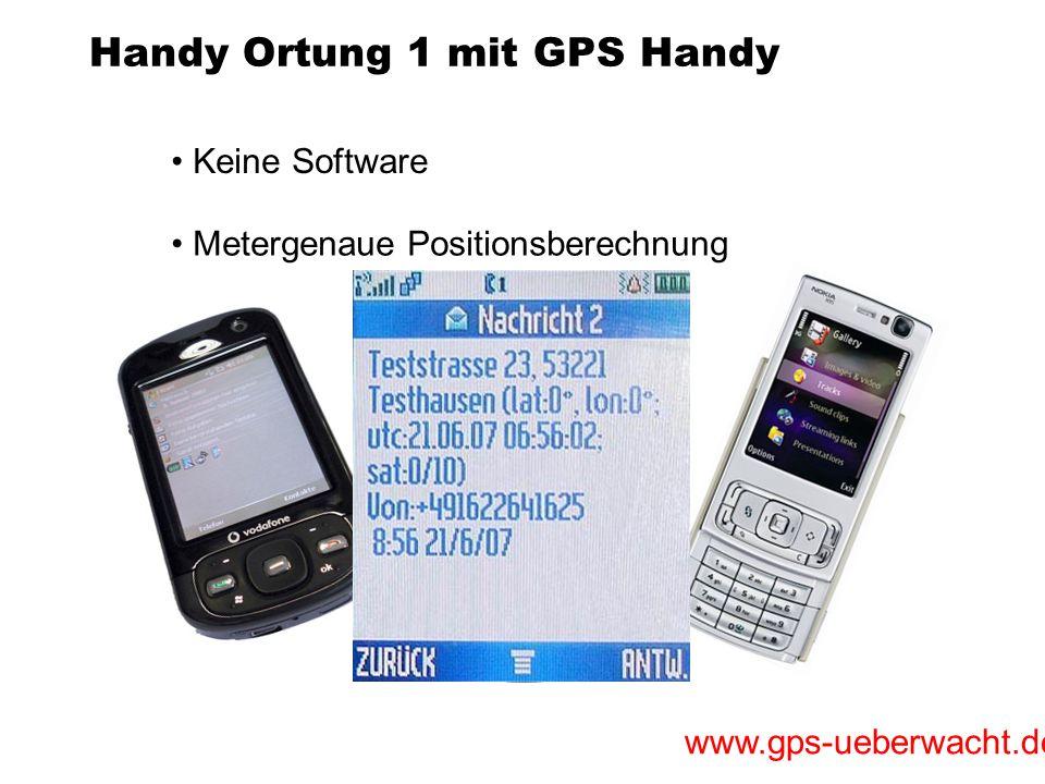 Handy Ortung 1 mit GPS Handy