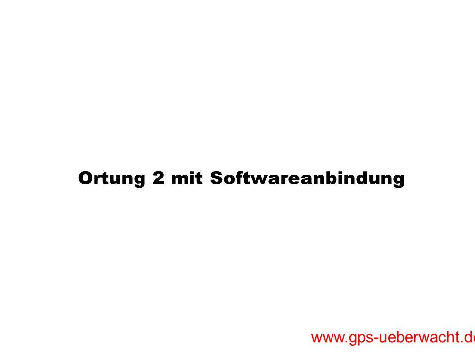Ortung 2 mit Softwareanbindung